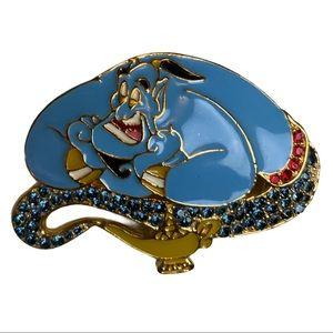 Disney Aladdin Genie Magic Lamp Swarovski Crystal Brooch